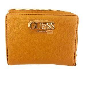GUESS CATALINA cognac coin wallet.